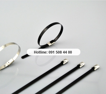 PVC sprayed Stainless steel cable tie
