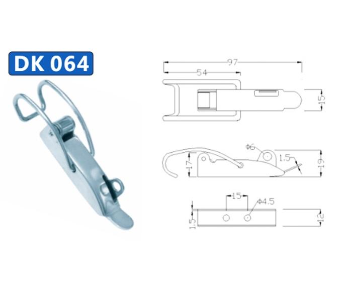 Khóa hộp inox DK064